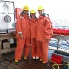 Arbeitskleidung an Bord: nicht schön, aber sicher und prkatisch. Foto: Sophia Wagner