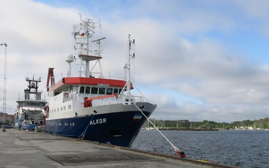 Die Alkor im Hafen von Karlskrona. Foto: Sophia Wagner