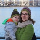 Lisa Neef with her son in Hamburg this winter.
