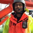 Dr. Florian SchütteB bereit für die Bergung des Gleiters mit dem Schlauchboot  - Dr. Florian Schütte ready for glider recovery ©Sarah Kaehlert