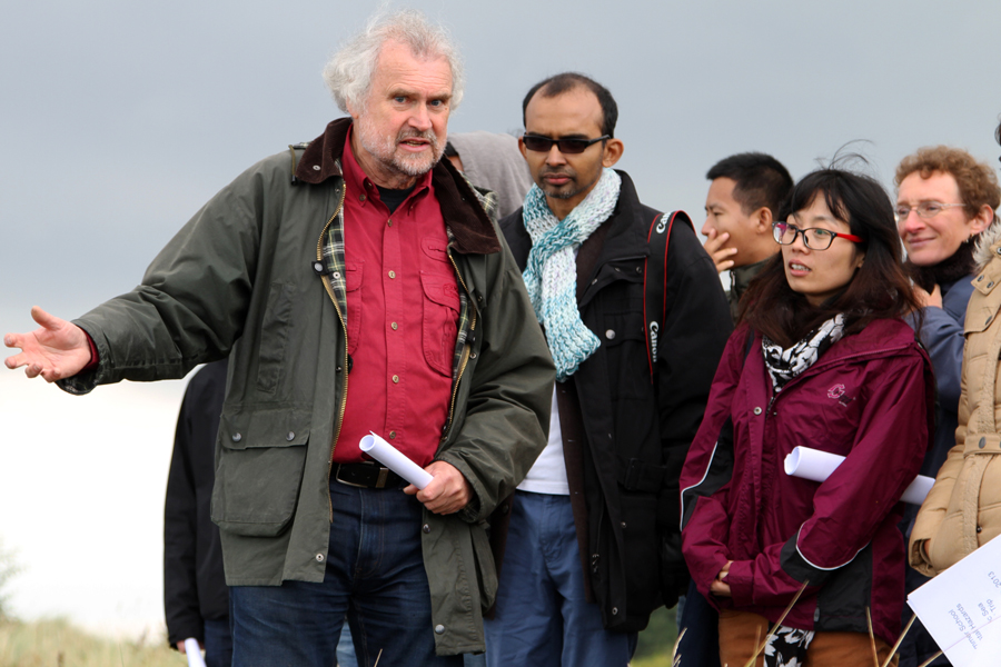 Prof. Stattegger during the fieldtrip
