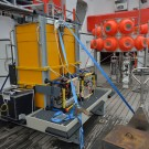 Since the ROV can only carry a limited amount of extra weight, deep-sea elevators were developed to carry tools up and down to use the dive time of the ROV more efficiently. (Photo: M. Schulz)