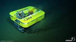 The crawler's firsts steps at the seafloor.