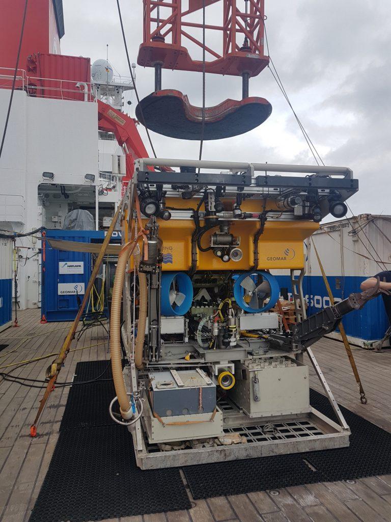 ROV KIEL 6000 on board SONNE 268. Foto: Khamann