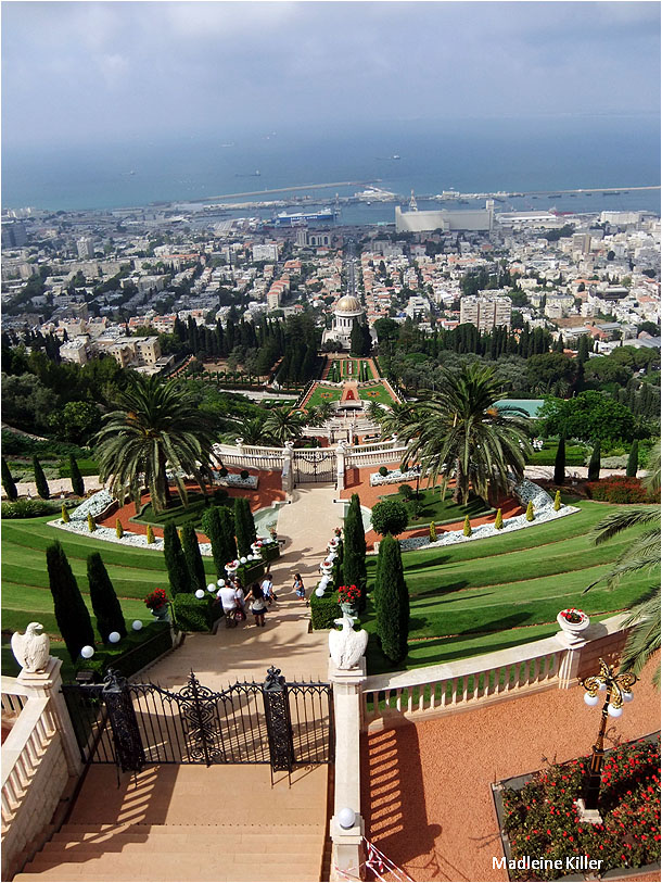 Haifa panorama from the famous Bahai Gardens.