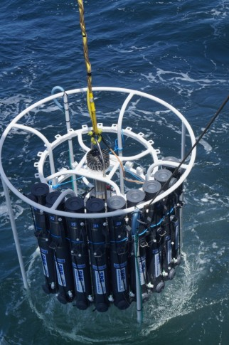 First deployment of trace metal clean CTD