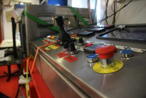 Control unit of trace metal clean CTD winch system (Photo by Veit)
