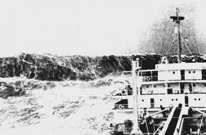 Freak wave in the Bay of Biscay, c. 1940 (NOAA)
