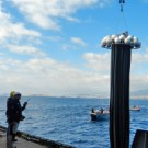 Zuwasserlassen des Tiefenwassersammlers. Foto: Constanze Bückner