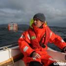 Paul going out for sediment sampling. Photo: Maike Nicolai, GEOMAR