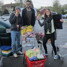 Having fun with shopping in the supermarket for dinner. Photo by Lisa Brunelli.