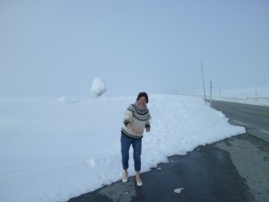 I won the snowball-war