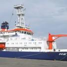 FS METEOR im Hafen von Mindelo. Foto: Martin Visbeck, GEOMAR