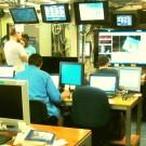 "Our work station for the time on board: the TechLab on board R/V Kilo Moana. / Unsere ""Schaltzentrale"" während unserer Zeit an Bord: Das Techniklabor. (Photo by Meike)"