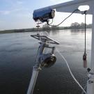 """Mit dem """"Air suction sampler"""" können Proben aus dem Flussboden genommen werden. Foto: Yasmin Appelhans"""