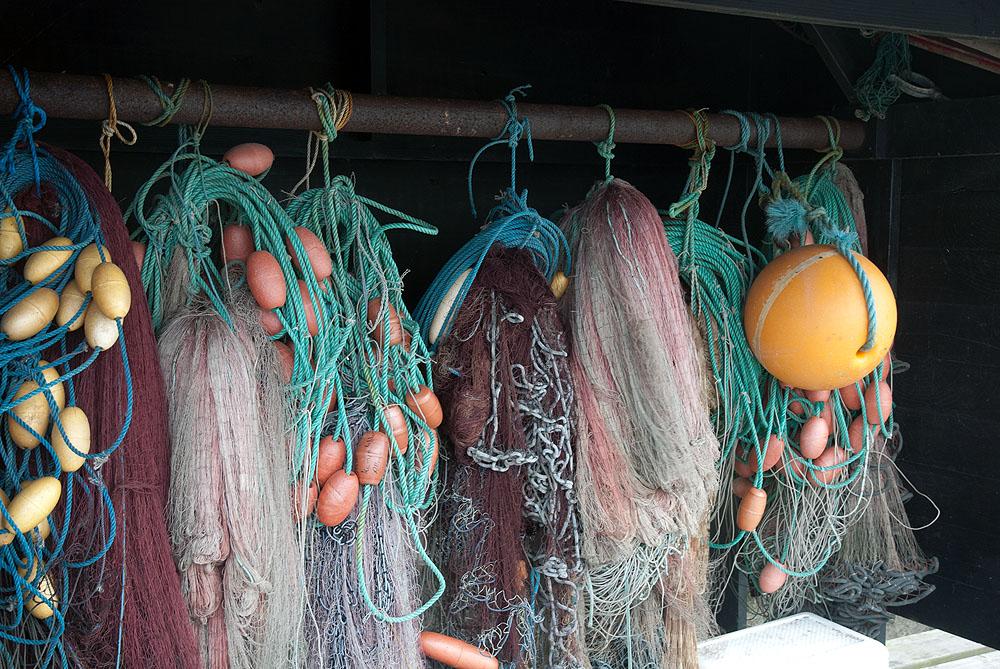 Kunstfasern in Umweltproben aus dem Meer stammen oft von Netzen und Seilen aus der Fischerei. Foto: Mark Lenz