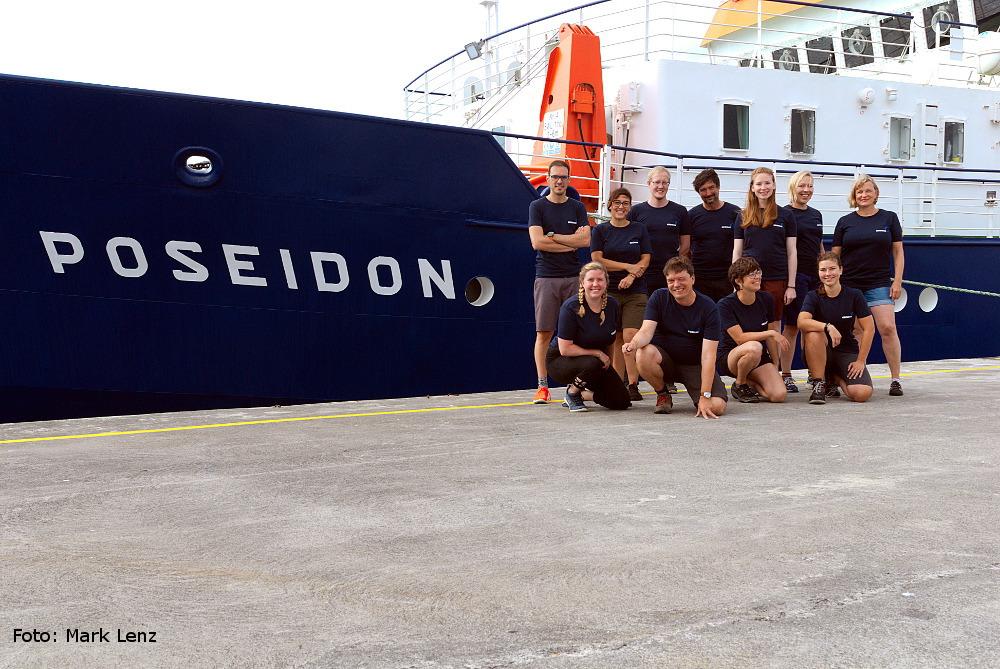 Die wissenschaftliche Crew von POS536. Foto: Mark Lenz