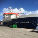 The Maria S Merian in the harbour of Las Palmas de Gran Canaria, one day before departure. Photo: D. Lange, GEOMAR