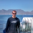 The Author in front of Table Mountain, South Africa