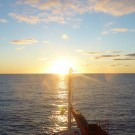 Sunset in the South Atlantic Ocean. Photo: Christina Schmidt