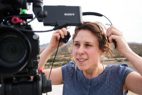 Unsere rasende Kamerafrau Sarah.