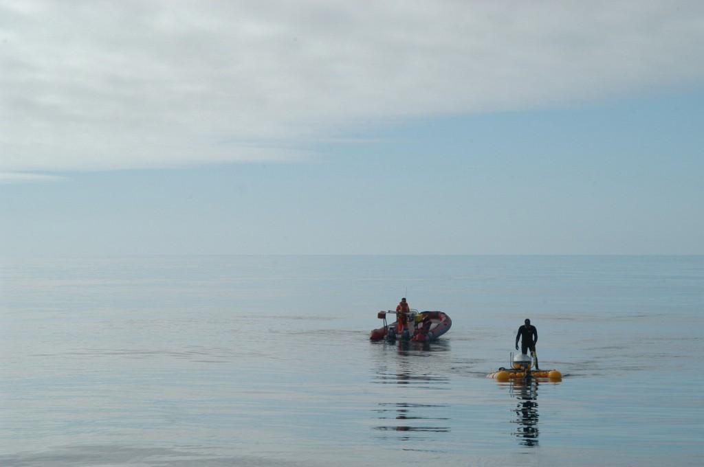 Auf hoher See sieht man oft Wasser soweit das Auge reicht. Doch aus wie viel Wasser bestehen eigentlich unsere Ozeane? (Foto: Karen Hissmann, GEOMAR)
