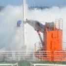 Stürme mit Orkanstärke erschwerten in den ersten Tagen die Arbeiten vor der Küste Namibias auf der METEOR-Fahrt M100-2. (Foto: Rafael Abel, GEOMAR)