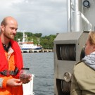GEOMAR.tv begleitet Matthias Paulsen auf seine wöchentliche Probennahme auf der Kieler Innenförde. Foto: Maike Nicolai, GEOMAR