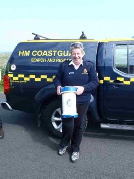 Schottische Coast Guard mit verloren geglaubtem Forschungsgeräte. Foto: Privat