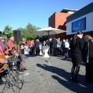 Empfang für das Diplomatische Corps vor dem GEOMAR am Schwentineufer. Die Band Timmerhorst sorgt für Stimmung. Foto: J. Steffen, GEOMAR