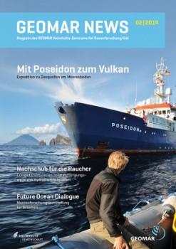 Cover der GEOMAR NEWS 02/2014. Foto: Christian Howe, Grafik: Christoph Kersten, GEOMAR