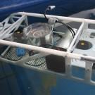 Das FH/GEOMAR Unterwasserfahrzeug im Textbecken des Technik- und Logistikzentrums am GEOMAR. Foto: A. Villwock, GEOMAR