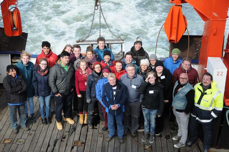 Schüler- und Mitarbeiterausfahrt mit FS ALKOR am 13. April 2015 in die Kieler Bucht. Foto: G. Seidel, GEOMAR