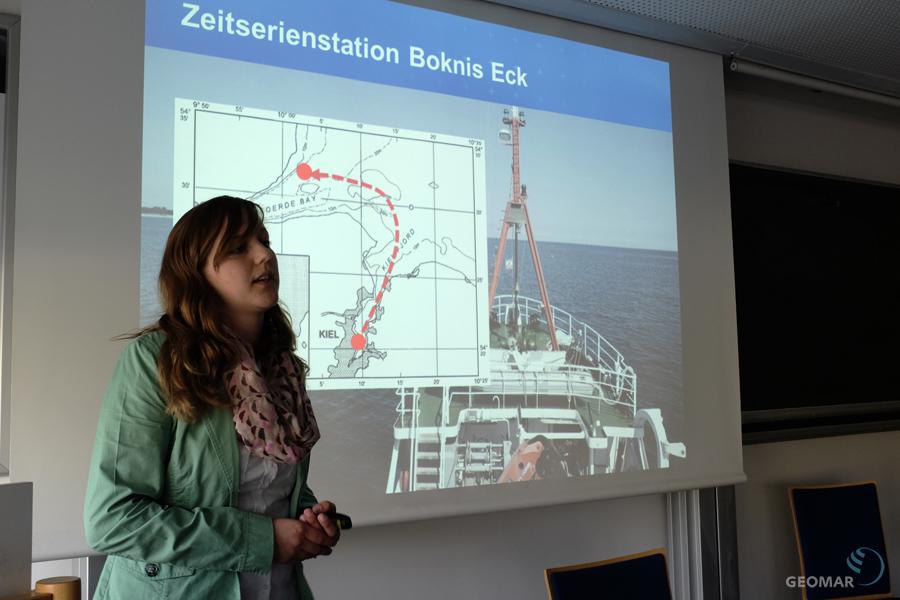 Glückwunsch! Sinikka Lennartz erhielt den Annette Barthelt-Preis für ihre Arbeiten zur Zeitserienstation Boknis Eck. Foto: J. Steffen
