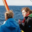 Wie arbeitet ein Meeresfoscher?: Sinikka beantwortet Rosannas Fragen. Foto: Maike Nicolai, GEOMAR