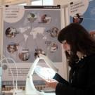 Wie viel Mikroplastik steckt im Strandsand? In der Ausstellung im Kieler Rathaus können Besucherinnen und Besucher selbst Proben von verschiedenen Küsten untersuchen. Foto: Jan Steffen, GEOMAR