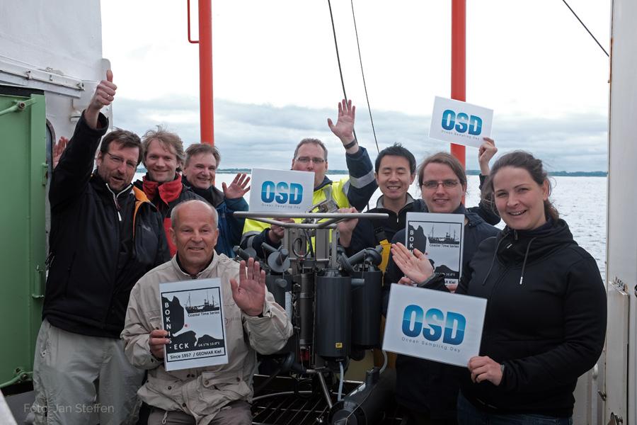 Das OSD2015-Team vom GEOMAR und von der Uni Kiel. Foto: Jan Steffen