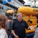 Wie immer beliebt: Tauchboot JAGO. Pilot und Entwickler Jürgen Schauer erklärt die Einsatzmöglichkeiten von Deutschlands einzigem Forschungstauchboot. Foto: J. Steffen, GEOMAR