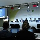 """COP21 Side Event """"The Importance of Addressing Oceans and Coasts in an Ambitious Agreement at the UNFCCC COP 21""""; Carol Turley"""