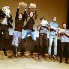 """Freude über die Auszeichnungen im Video-Wettbewerb """"Fast Forward Science"""". Foto: Gesine Born, Wissenschaft im Dialog"""