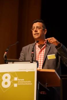Simon Singh beim Forum Wissenschaftskommunikation. Foto: Gesine Born, Wissenschaft im Dialog
