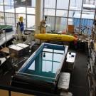 """Das Autonome Unterwasserfahrzeug """"Abyss"""" in unserem Technik- und Logistzentrum in Kiel. Foto: R. Dettmann, GEOMAR"""