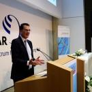 """""""Jeder trägt Verantwortung"""" - Bundesentwicklungsminister Dr. Gerd Müller während der Zukunftstour in Kiel. Foto: Jan Steffen"""