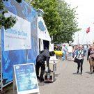 Ausstellungszelt der Kieler Meereswissenschaften auf der Kieler Wooche 2016. Foto: Jan Steffen
