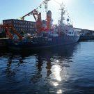 Strahlender Sonnenschein zum 40. Geburtstag... Die Poseidon in Kiel. Foto: Jan Steffen