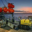 Der VIATOR zusammen mit MANSIO an Bord von FS ALKOR in der Geltinger Bucht. Foto: Esther Horvath