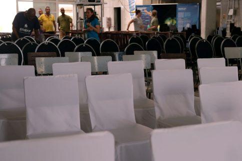 Alles bereit für die 150 Teilnehmerinnen und Teilnehmer des internationalen Workshops. Foto: Jan Steffen, GEOMAR