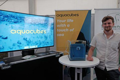 Nachhaltige Aquakultur mit dem Projekt aquacubes. Foto: Jan Steffen