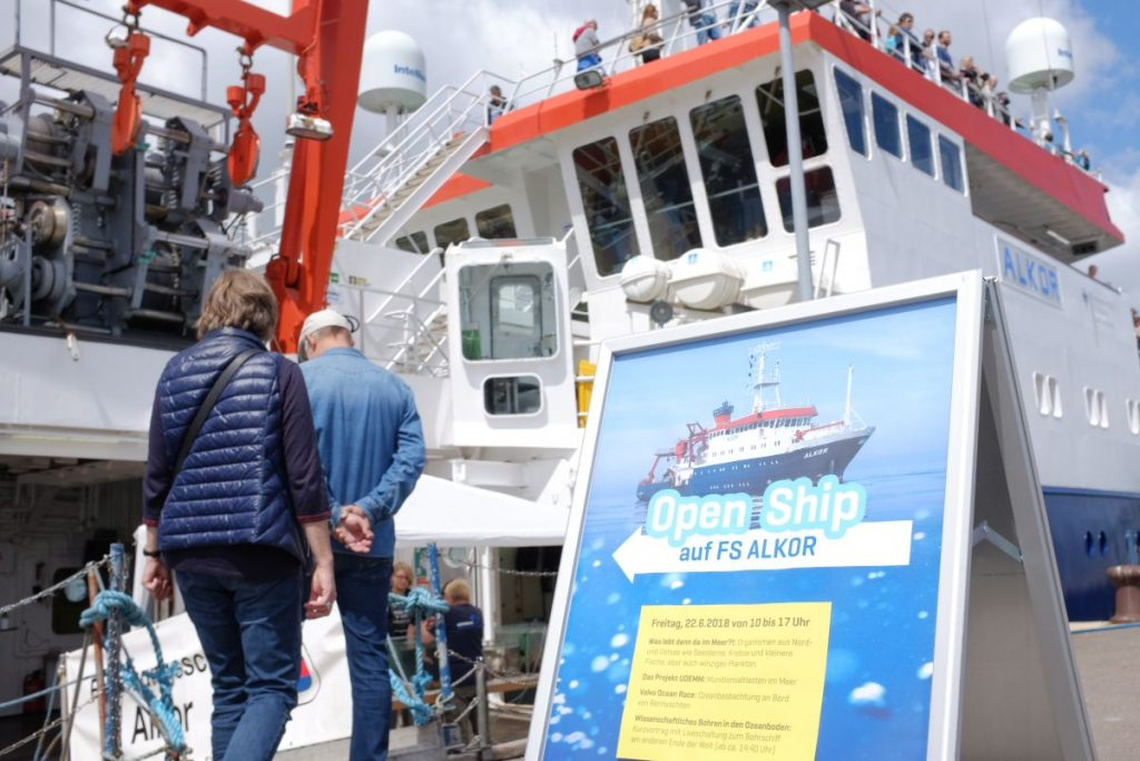 Von 10 bis 17 Uhr hatte die ALKOR heute für Besucherinnen und Besucher geöffnet. Foto: Jan Steffen