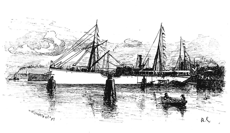 """Im Juli 1889 startete die """"Plankton Expedition"""" mit dem gecharterten Dampfer """"National"""" unter der Leitung von Victor Hensen in Kie. Abb: Archiv GEOMAR"""